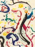 Prints:American, SAM FRANCIS (American, 1923-1994). Untitled, 1990. Aquatintwith chine collé. 24 x 17-3/4 inches (61.0 x 45.1 cm). Ed. 1...