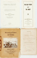 Books:Americana & American History, [Americana] Group of Four Senatorial Documents Relating toSegregation, the NAACP and the South. Various publishers anddate... (Total: 4 Items)