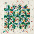 Fine Art - Work on Paper:Print, SAM FRANCIS (American, 1923-1994). Untitled (SFM78-171;SFM78-050), 1978. Unique Monotype - with woodcut, dry pigments,...