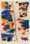 Post-War & Contemporary:Abstract Expressionism, SAM FRANCIS (American, 1923-1994). The White Line, 1960.Lithograph in colors on buff BFK Rives paper. 35-5/8 x 24-5/8 i...