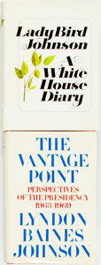 Books:Biography & Memoir, Pair of SIGNED First Editions by Lyndon and Ladybird Johnson.Includes: The Vantage Point and A White House Diar...(Total: 2 Items)