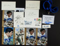 Autographs:Post Cards, Football Greats Signed Postcards, Index cards, Etc. Lot Of 13....