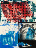 Prints:Contemporary, ROBERT RAUSCHENBERG (American, 1925-2008). People for theAmerican Way, 1991. Lithograph and screenprint in colors. 48x...