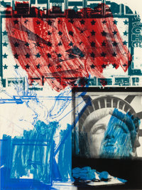 ROBERT RAUSCHENBERG (American, 1925-2008) People for the American Way, 1991 Lithograph and screenpri