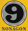 Prints:Contemporary, ROBERT INDIANA (American, b. 1928). Nonagon (from thePolygon Suite), 1975. Silkscreen in colors. 31 x 27-1/...