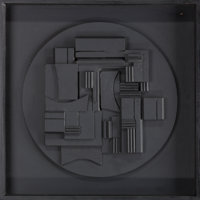 LOUISE NEVELSON (American, 1899-1988) Full Moon, 1980 Cast polyester resin and wood 14-1/2 inches