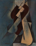 Impressionism & Modernism:Abstraction, LORSER FEITELSON (American, 1898-1978). Half Figure (SeatedFigure), 1920. Oil on carton. 24 x 19 inches (61.0 x 48.3 cm...