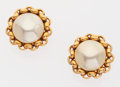 Luxury Accessories:Accessories, Chanel Gold & Pearl Clip-on Earrings. ...
