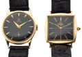 Timepieces:Wristwatch, Omega 14k Gold & Gold Filled Omega DeVille Wristwatches. ...(Total: 2 Items)