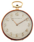 Timepieces:Pocket (post 1900), Arthur A. Everts Co. By Touchon 19 Jewel Platinum & Gold Pocket Watch. ...