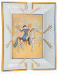 """Luxury Accessories:Home, Hermes White & Gold """"Feux D'Artifices"""" Porcelain Ashtray. ..."""