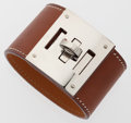 Luxury Accessories:Accessories, Hermes Natural Barenia Leather Kelly Dog Bracelet. ...