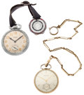 Timepieces:Pocket (post 1900), Waltham & Bulova Open Face Pocket Watches Runners. ... (Total:2 Items)