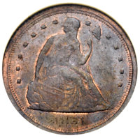 1854 E1C Electrotype One Cent, Judd-159a, Pollock-186, High R.6, MS61 Brown NGC....(PCGS# 11654)