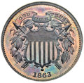 Patterns, 1863 2C Two Cents, Judd-312, Pollock-377, R.4, PR63 Brown NGC....