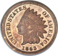 Patterns, 1863 1C One Cent, Judd-299, Pollock-359, R.3, PR64 Red and Brown NGC....