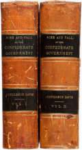 Books:Americana & American History, Jefferson Davis. The Rise and Fall of the ConfederateGovernment. New York: D. Appleton, 1881. First edition. Twovo... (Total: 2 Items)