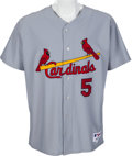 Baseball Collectibles:Uniforms, 2010 Albert Pujols Game Worn St. Louis Cardinals Jersey with Pujols Letter....