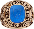 Football Collectibles:Others, 1967 Emlen Tunnell Pro Football Hall of Fame Ring....