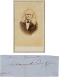 Photography:CDVs, Edmund Ruffin, Ardent Secessionist, Credited With Firing the First Shot of the Civil War, Carte de Visite and Clippe... (Total: 2 )