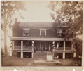 Photography:Studio Portraits, Large Albumen Mounted Photograph of McLean House, Appomattox,Virginia, Site of Lee's Surrender to Grant....