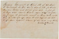 "Autographs:Military Figures, 1860 Alabama Slave Bill of Sale Autograph Document ""for a Negroman named Charles""...."