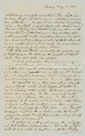 Autographs:Military Figures, [Winfield Scott] Benson J. Lossing War-Date Autograph Manuscript Concerning General Winfield Scott's Opinion of the Outcome of...
