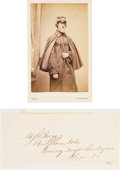Photography:CDVs, Union Brigadier General Henry Shaw Briggs Carte de Visite and Clipped Signature.... (Total: 2 )