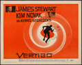 "Movie Posters:Hitchcock, Vertigo (Paramount, 1958). Half Sheet (22"" X 28"") Style B.Hitchcock.. ..."