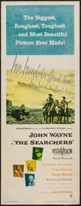 """Movie Posters:Western, The Searchers (Warner Brothers, 1956). Insert (14"""" X 36""""). Western.. ..."""