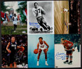 Basketball Collectibles:Others, Miscellaneous Sports Signed Photographs Lot Of 6....