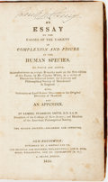 Books:Social Sciences, Samuel Stanhope Smith. AN ESSAY ON THE CAUSES AND VARIETY OFCOMPLEXION AND FIGURE IN THE HUMAN SPECIES. TO WHICH ARE AD...