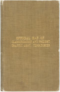 Books:Maps & Atlases, [Maps]. [Central Freight Association]. Official Map of Railroad Freigh Classification Territories and Freight Traffic As...
