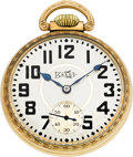 Timepieces:Pocket (post 1900), Ball 21 Jewel Official Standard With Unusual Dial. ...