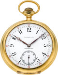 Timepieces:Pocket (post 1900), Tiffany & Co.18k Gold Pocket Watch by Agassiz, circa 1916. ...