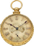 Timepieces:Pocket (pre 1900) , George Hedger, London 18k Gold Lever Fusee, circa 1820. ...