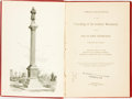 Books:Americana & American History, [Ohio]. PROCEEDINGS AT THE UNVEILING OF THE SOLDIERS' MONUMENTON THE SITE OF FORT STEPHENSON, FREMONT, OHIO. ORATION BY...
