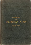 Books:Music & Sheet Music, Oscar Coon. HARMONY AND INSTRUMENTATION. THE PRINCIPLES OF HARMONY WITH PRACTICAL INSTRUCTION IN ARRANGING MUSIC FOR ORC...