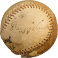 Autographs:Baseballs, 1930's Dazzy Vance Signed Baseball with Babe Ruth....