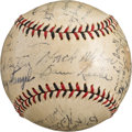 Autographs:Baseballs, 1933 Brooklyn Dodgers Team Signed Baseball With Hack Wilson, CaseyStengel & Al Lopez....