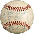 Baseball Collectibles:Balls, 1962 New York Mets Team Signed Baseball - With Hornsby....