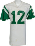 Football Collectibles:Uniforms, 1973-75 Joe Namath Game Worn New York Jets Jersey, MEARS A10....