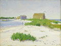Texas:Early Texas Art - Regionalists, OLIN TRAVIS (1888-1975). Fish Houses, Clearwater Fla, 1914.Oil on beveled wood panel. 12in. x 16in.. Signed and dated l...