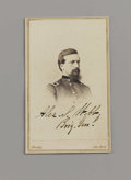 "Photography:Signed, Union General Alexander S. Webb Photograph Signed, ""Alex. S. Webb Brig. Genl."". Carte de Visite with ""Brady-New York"" on..."