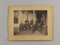 Photography:Cabinet Photos, Union Naval Officers Imperial Albumen Print. Large and exquisitely detailed image showing nine junior naval officers seated ...