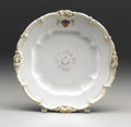 """Political:3D & Other Display (pre-1896), Abraham Lincoln's White House Dinner Plate from President James K. Polk's Service (10""""), accompanied by a letter stating tha..."""