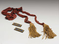 "Military & Patriotic:Civil War, Union Colonel's Shoulder Straps with ""Silver Eagle"" and Officers Crimson Red Belt Sash with tasseled knots. This is a great ..."