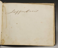 "First Confederate Congress Autograph Book With 135 Signatures, over 100 pages, 8"" x 6.5"", with gold tooled lea..."