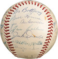 Autographs:Baseballs, 1953 New York Yankees World Series Champions Team Signed Baseball....