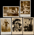 "Movie Posters:Photo, Douglas Fairbanks & Others Lot (1930s). French Postcards (5)(3.5"" x 5.5""). Photo.. ... (Total: 5 Items)"